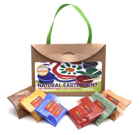 Natural Earth Paint - mini Earth Paint KIT (uten beger og lokk)