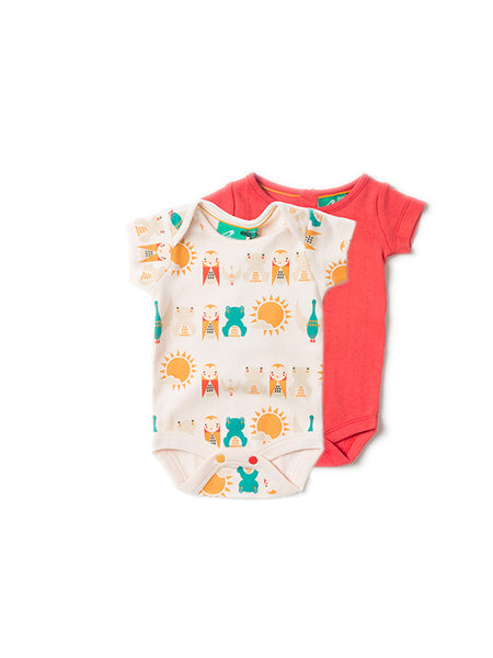 Little Green Radicals - River Friends Baby BODY 2pk