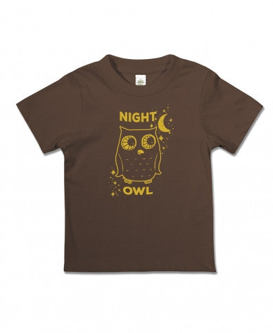 Soul Flower - NIGHT OWL ORGANIC KID'S T-SHIRT