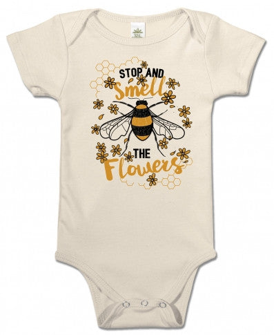 Soul Flower - SMELL THE FLOWERS ORGANIC BABY BODYSUIT
