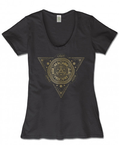 Soul Flower - Merkaba scoop neck T-SHIRT