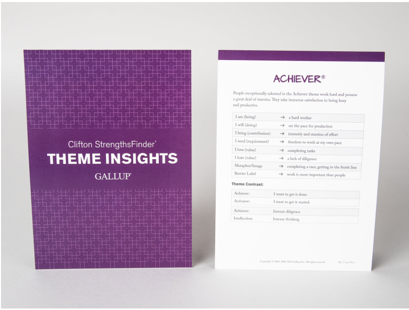 Clifton Strengths Theme Insights Cards (sett med 37 kort)