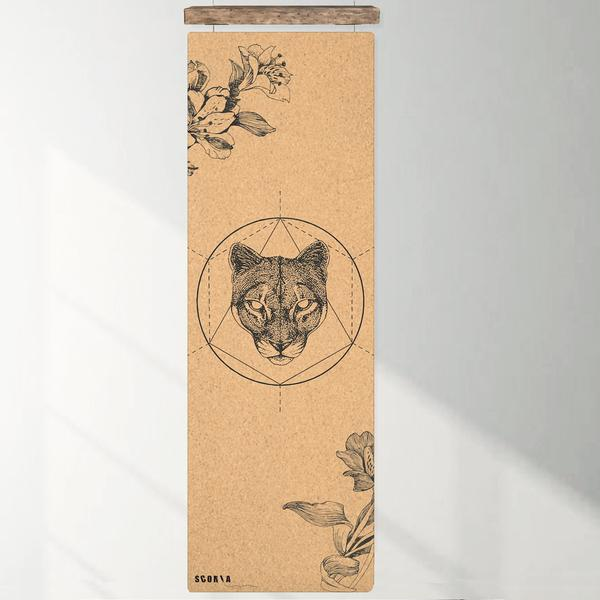 Yogamatte i kork - MOUNTAIN LION (3.5 mm)