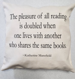 Katherine Mansfield Pillow Cover