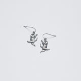 Edward Gorey Sterling Silver Dancing Cat Earrings