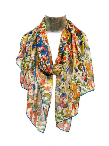 Book of Hours Silk Chiffon Scarf