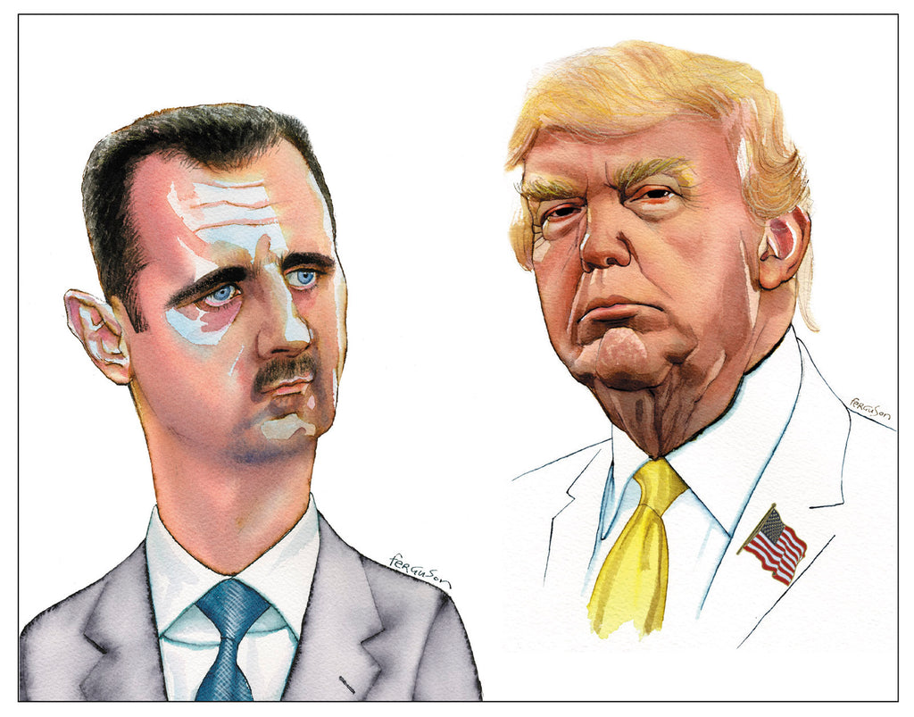 Bashar al-Assad and Donald Trump
