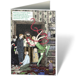 Edward Gorey Tinsel Dance Holiday Notecards