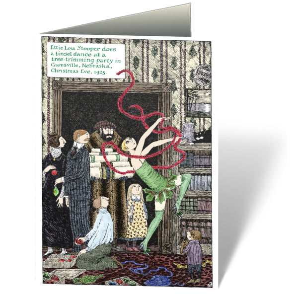 Edward Gorey Tinsel Dance Holiday Cards