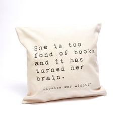Louisa May Alcott Pillow Cover- Typewriter