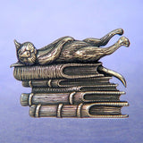 "Edward Gorey ""Life is Sweet"" Sterling Silver Pin"