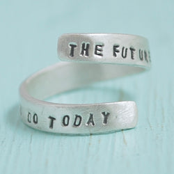 Gandhi Quote Wrap Ring