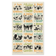 Collective Noun Animals Tea Towel #2