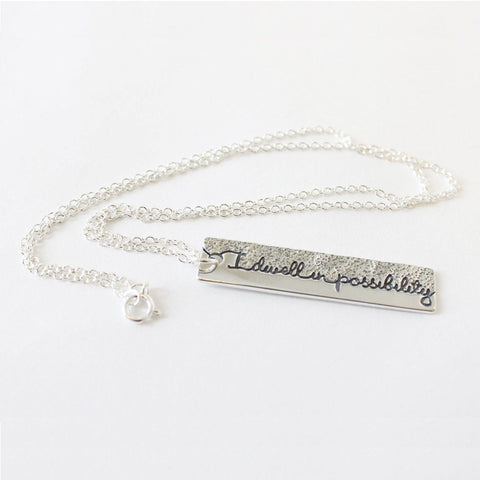 Emily Dickinson Pendant Necklace