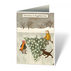 Edward Gorey Christmas at Hugglebee Pond Notecards