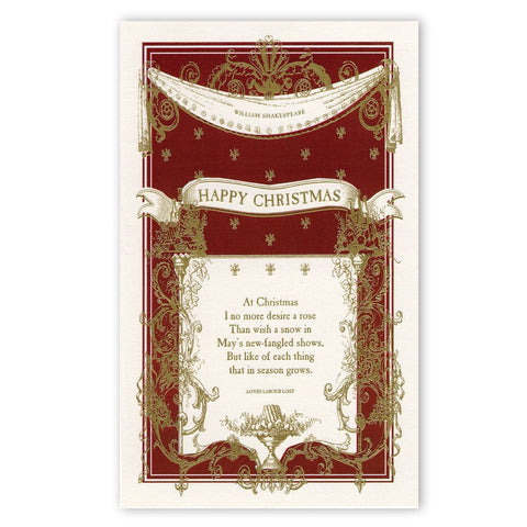 Shakespeare Happy Christmas Cards The Reader S Catalog Nyr