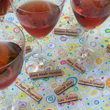 Wine Glass Charms  — Authors
