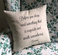 Erasmus Pillow Cover - Script