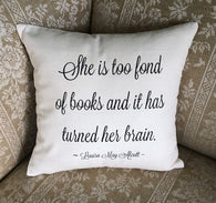 Louisa May Alcott Pillow Cover - Script