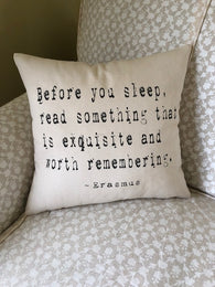 Erasmus Pillow Cover - Typewriter
