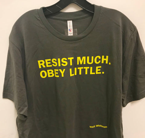 best service f272f 464eb Resist much. Obey little. Adult size T-shirt – The Reader's ...