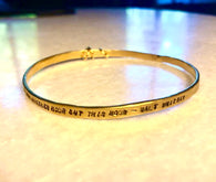 Walt Whitman Gold Happiness Bracelet