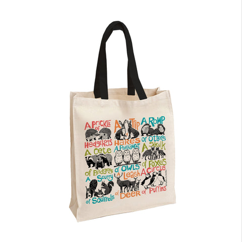 Collective Noun Animals Tote Bag