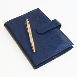 Madeira Leatherette Journal & Pen-Blue