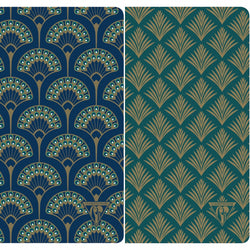 Palmetto & Peacock Art Deco Notebooks
