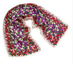 Shakespeare's Flowers Silk Scarf