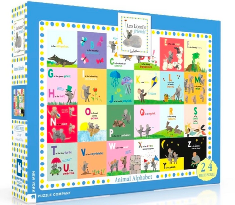 Leo Lionni Animal Alphabet 24-Piece Puzzle