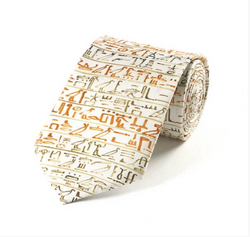 Egyptian Hieroglyphics Silk Tie