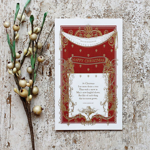 Shakespeare Happy Christmas Cards