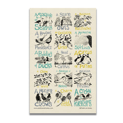 Collective Noun Birds Tea Towel