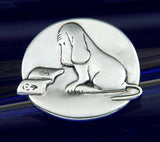 James Thurber Reading Dog Pin/Pendant