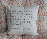 Anthony Trollope Pillow Cover - Typewriter