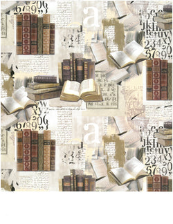 Vintage Bibliophilia Wrapping Paper