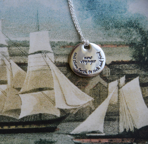 Walt Whitman Pendant Necklace