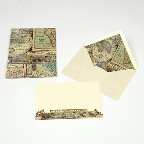 Antique Map Correspondence Cards
