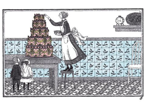 Edward Gorey Birthday Cake Cards