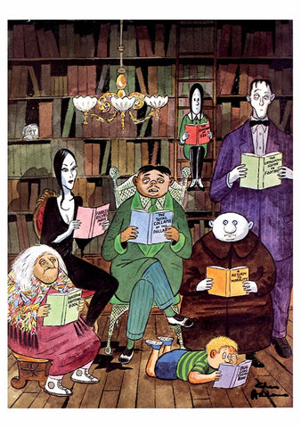The Addams Family Reading Notecards