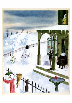 The Addams Family Snowmen Holiday Cards