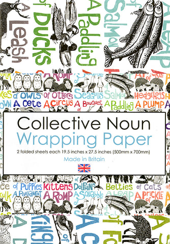 Collective Noun Wrapping Paper