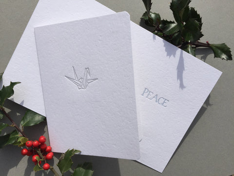 Letterpress Peace Greeting Cards