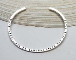 Walt Whitman Happiness Quote Cuff