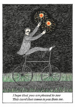 Edward Gorey Sparkler Birthday Cards
