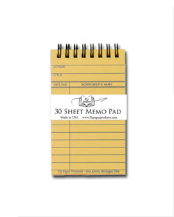 Library Due Date Card Memo Pad