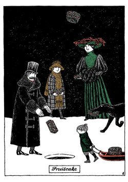 Edward Gorey Fruitcake Holiday Cards