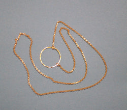 Gold Eyeglass Chain with Loop