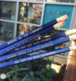 """WHERE IS THE LIBRARY?"" Language Pencils"
